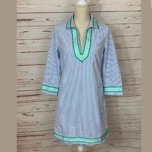 Vineyard Vines Seersucker Striped Tunic Dress